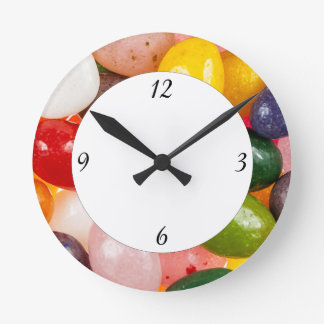 Cool colorful sweet Easter Jelly Beans Candy Round Clock