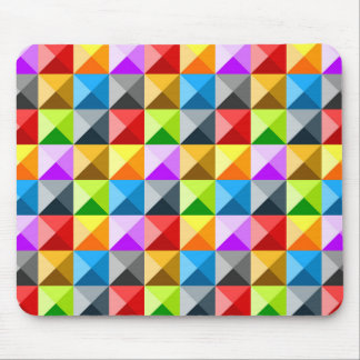 Cool Colorful triangles geometric pattern Mouse Pad