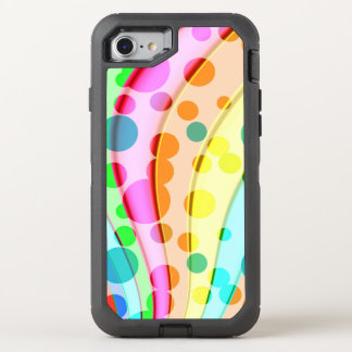 Cool Colorful Wavy Pattern OtterBox Defender iPhone 7 Case