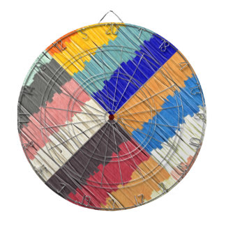 Cool Colors Collage Dartboard