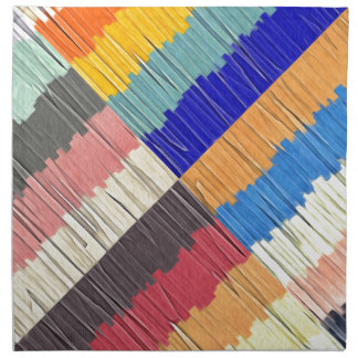 Cool Colors Collage Napkin