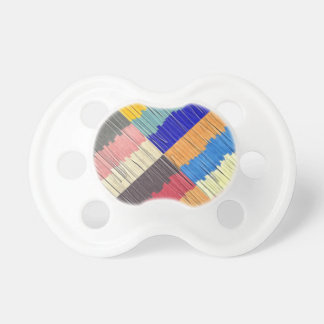 Cool Colors Collage Pacifier