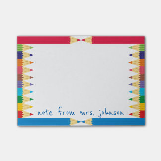 Cool Coloured Pencil Boarder Post-it® Notes