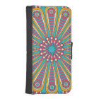 Cool colourful Boho Mandala iPhone SE/5/5s Wallet Case