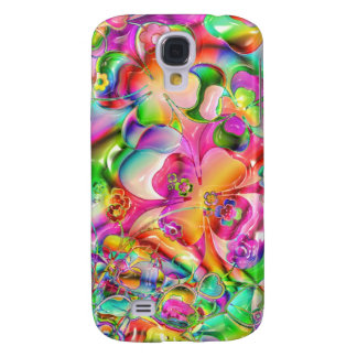 cool colourful bright flowers hearts background HTC vivid / raider 4G case
