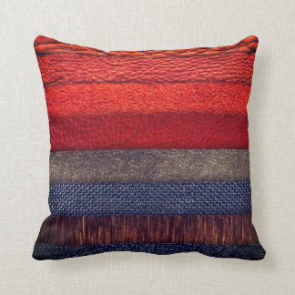 Cool colourful cloth texture  design throw pillow