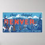 Cool Colourful Denver Poster
