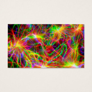 cool colourful fractal business card