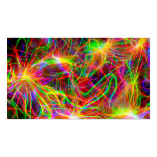 cool colourful fractal pack of standard business cards
