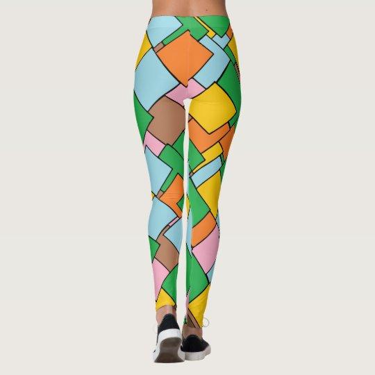 Cool Colourful Geometric Pattern Leggings