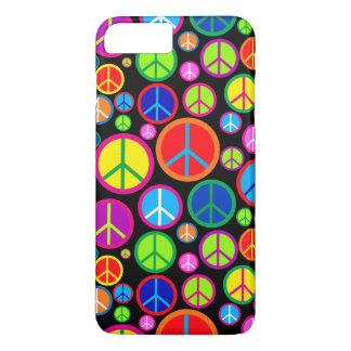 Cool Colourful Groovy Peace Symbols iPhone 8 Plus/7 Plus Case