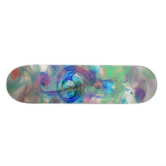 Cool colourful music notes smoke effects image skateboard deck
