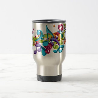 cool colourful music notes & sounds art image 15 oz stainless steel travel mug