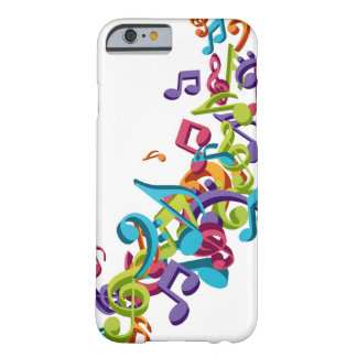 cool colourful music notes & sounds art image barely there iPhone 6 case