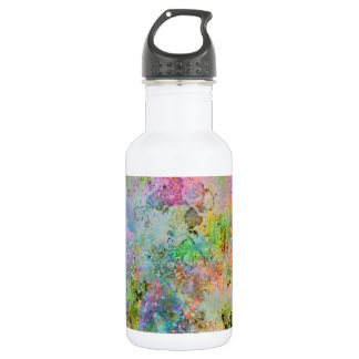 Cool colourful neon colours abstract marble image 532 ml water bottle