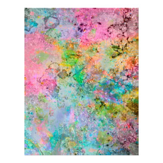 Cool colourful neon colours abstract marble image full color flyer