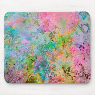 Cool colourful neon colours abstract marble image mouse pad