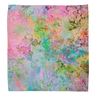 Cool colourful neon colours abstract marble image head kerchief