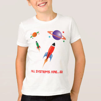 Cool colourful  space rockets T-Shirt