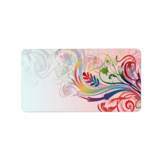 Cool colourful summer colours swirls flowers