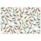Cool colourful tropical watercolor birds pattern tissue paper