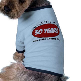 cool conceptions d anniversaire de 30 années tee-shirts pour toutous