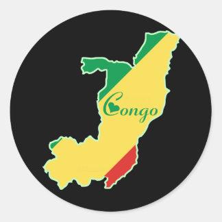 Cool Congo-Brazzaville Classic Round Sticker