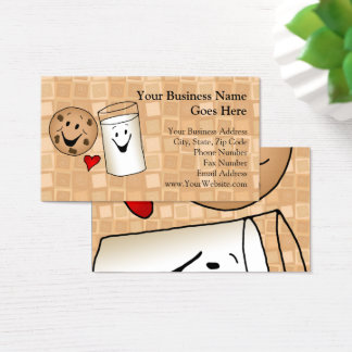 Cool Cookies and Milk Friends Cartoon Business Card