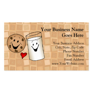 Cool Cookies and Milk Friends Cartoon Pack Of Standard Business Cards