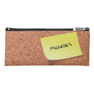COOL Cork Board with Personalized Text on Post It Pencil Case