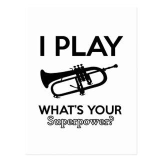 cool cornet design postcard