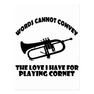 cool Cornet  designs Postcard