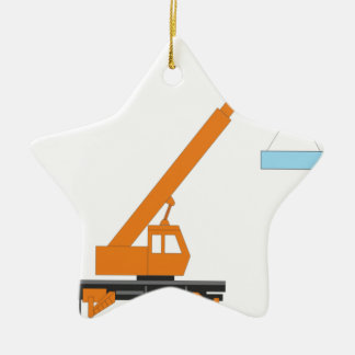 Cool Crane Boy Gift Idea Ceramic Star Ornament