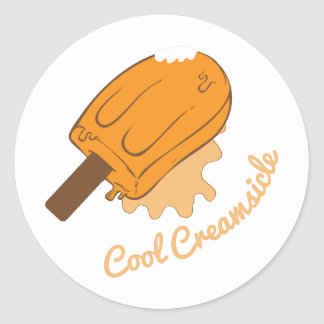 Cool Creamsicle Classic Round Sticker