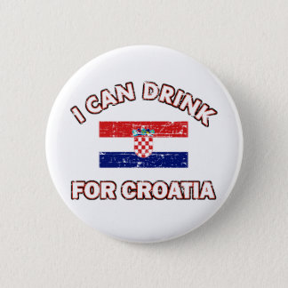 Cool Croatia Drinking Designs 2 Inch Round Button