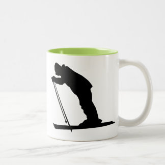 Cool Cross Country Snow Ski Two-Tone Coffee Mug
