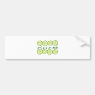 Cool Cucumber Bumper Sticker