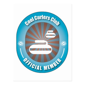 Cool Curlers Club Postcard