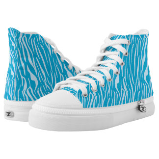 Cool Custom Animal Print Zipz High Top Shoes
