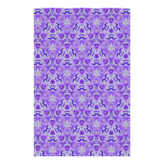 Cool Customizable Shades of Lavender Pattern Customized Stationery