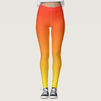 Cool Cute and Fun Gradient Sunrise Orange Leggings