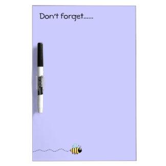 Cool cute bee cartoon purple dry-erase board