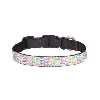 Cool cute bicycle pattern colourful seamless pet collar