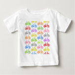 Cool cute bicycle pattern colourful seamless t shirts