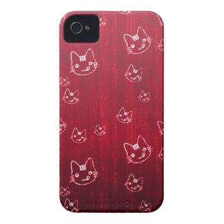 Cool cute cat kitty neko japanese cherry red iPhone 4 Case-Mate cases