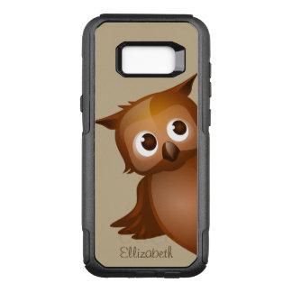 Cool Cute Custom Name Funny Cartoon Owl Monogram OtterBox Commuter Samsung Galaxy S8+ Case