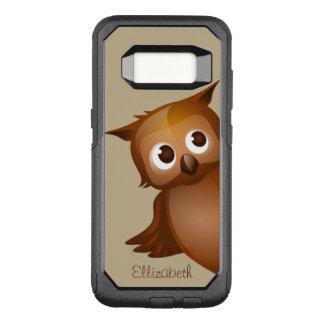 Cool Cute Custom Name Funny Cartoon Owl Monogram OtterBox Commuter Samsung Galaxy S8 Case