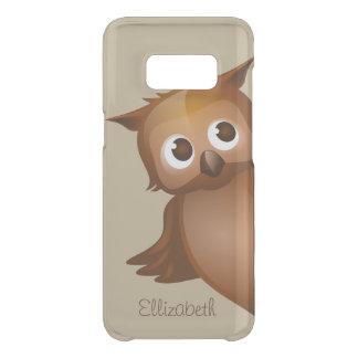 Cool Cute Custom Name Funny Cartoon Owl Monogram Uncommon Samsung Galaxy S8 Case