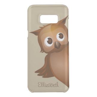 Cool Cute Custom Name Funny Cartoon Owl Monogram Uncommon Samsung Galaxy S8 Plus Case