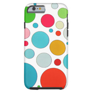 Cool cute different size bubbles and polka dots tough iPhone 6 case